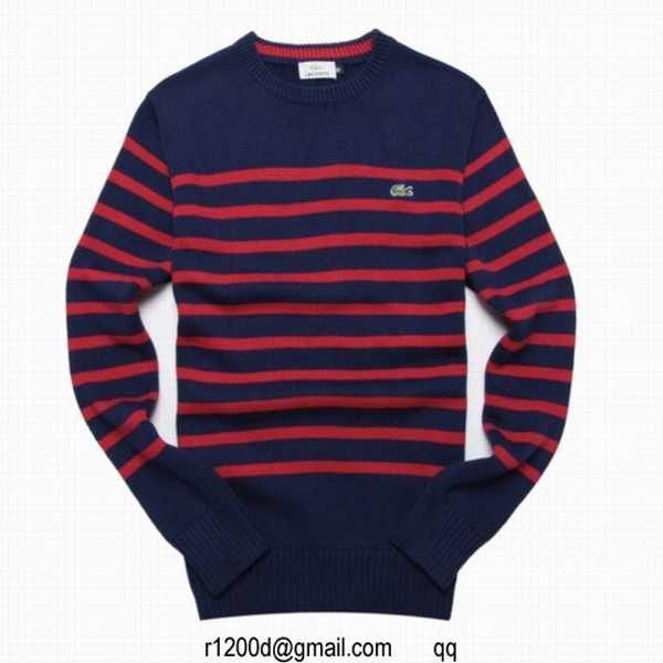 Rond V Homme pull Rouge Homme Gris pull Pull Lacoste Col PTZuOkXi